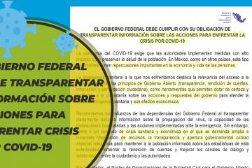 GOBFED debe transparentar acciones COVID-19